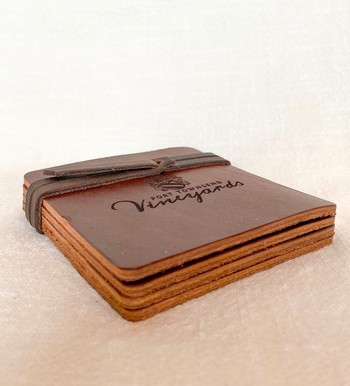 Ultra Leather Coaster-Set of four
