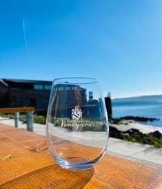 Port Townsend Vineyards Stemless Logo Glass
