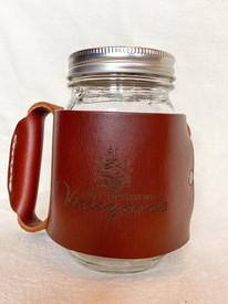 Leather Miner Mug Sleeve